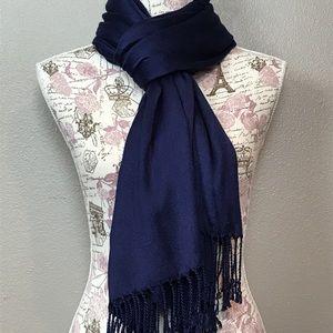 Gorgeous pashmina navy blue scarf